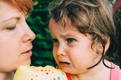 Little cute girl crying Royalty Free Stock Images