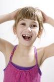 Little cute girl doing yoga Stock Photography