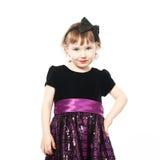 Little cute girl in a dress Stock Photo