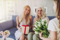 Daughter, mother and grandmother at home Royalty Free Stock Photography