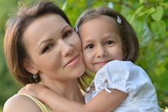 Little cute girl with her mother Stock Image