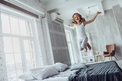 Cute little girl at home Royalty Free Stock Photography