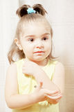 Little cute girl looking sideways Royalty Free Stock Images