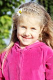 Little Cute Girl Outdoors Portrait Stock Images