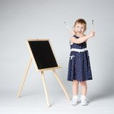 Little cute girl painting Royalty Free Stock Photos