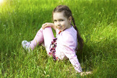 Little cute girl in park Royalty Free Stock Photo