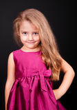 Little cute girl in a pink dress Royalty Free Stock Photos