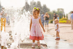 Little cute girl on playground Royalty Free Stock Photo
