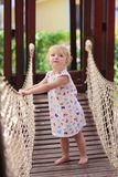 Little cute girl at the playground Royalty Free Stock Photo
