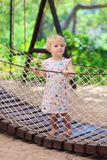 Little cute girl at the playground Royalty Free Stock Photography