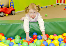 Little cute girl in playroom Royalty Free Stock Photography