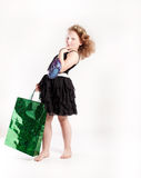 Little cute girl shopping. Royalty Free Stock Photos