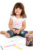 Little cute girl smilimg Stock Image