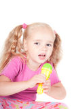 Little cute girl in studio Royalty Free Stock Photography