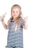 Little cute girl in studio Royalty Free Stock Image