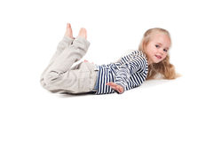 Little cute girl in studio Royalty Free Stock Images