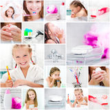 Little cute girl takes a bath Stock Image