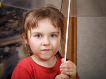 Little cute girl with umbrella Royalty Free Stock Photos