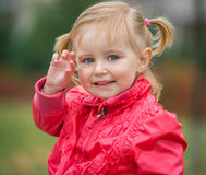 Little cute girl  on the walk Royalty Free Stock Photos