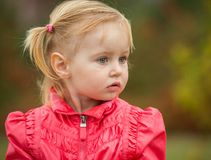 Little cute girl  on the walk Royalty Free Stock Photo