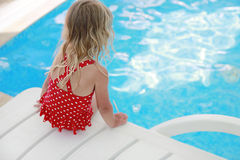 Little cute girl in water pool Stock Photography