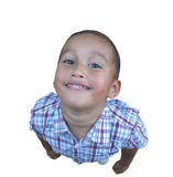 Little Cute Guy. Looking up Royalty Free Stock Photos