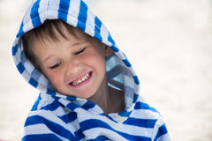 Little cute happy child flirting and smiling, Stock Photo