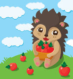 Little cute hedgehog Stock Images