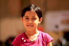 Little cute indian girl. On the street in Jodhpur Royalty Free Stock Photos