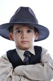 A little cute kid in business suit Royalty Free Stock Photography