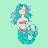 Little cute mermaid Stock Photography