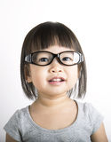 Little cute nerdy girl Royalty Free Stock Photo