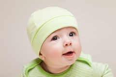 Little cute newborn baby child Stock Photos