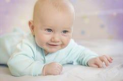 Little cute newborn baby child Stock Images