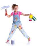 Little cute painter Stock Photo