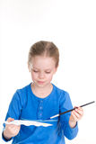 Little Painter with Palette. Little Cute Painter with Palette Stock Image