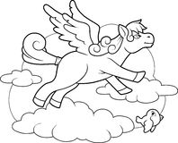 Little cute pegasus Royalty Free Stock Image