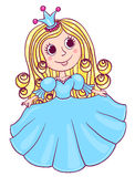 Little cute princess blue Stock Photography