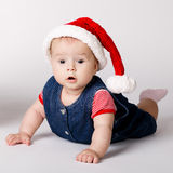 Little cute santa portrait Royalty Free Stock Images