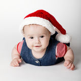 Little cute santa portrait Stock Images