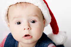 Little cute santa portrait Royalty Free Stock Photos