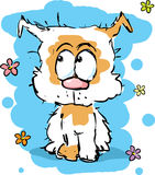 Little cute shaggy puppy dog - colorful sketch Royalty Free Stock Image