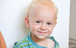 Little cute smiling  blond boy Royalty Free Stock Photography