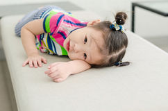 Little cute smiling girl  looking at camera Royalty Free Stock Photography
