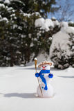 Little cute snowman Royalty Free Stock Photography