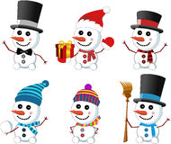 Little Cute Snowmen Collection stock photography