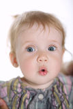 Little cute surprised girl Royalty Free Stock Images