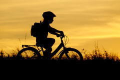 Little cyklist Fotografering för Bildbyråer