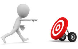 Chase moving target Royalty Free Stock Image
