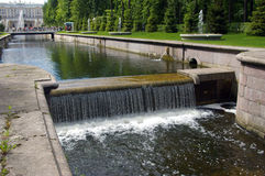 Little dam at Peterhof. Royalty Free Stock Image